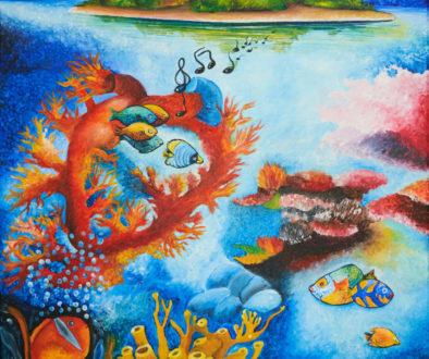 "Pintura de Saúl Lopez basada en ""Clarores"""